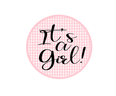 Its a Girl Gingham Package Tags - Dots and Bows Designs