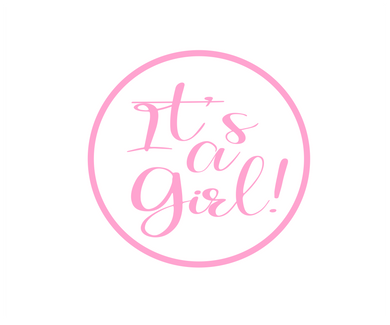 Its a Girl Solid Package Tags - Dots and Bows Designs