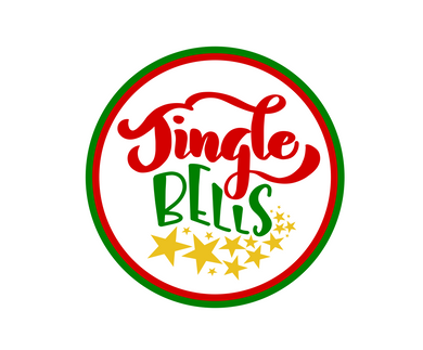 Jingle Bells Green/Red Package Tags - Dots and Bows Designs