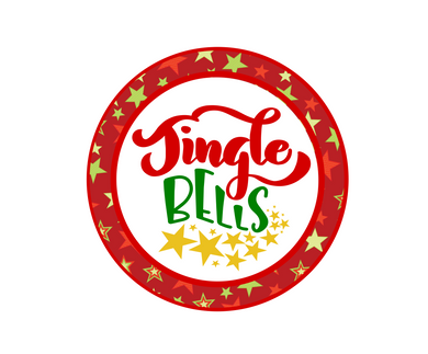 Jingle Bells Stars Package Tags - Dots and Bows Designs