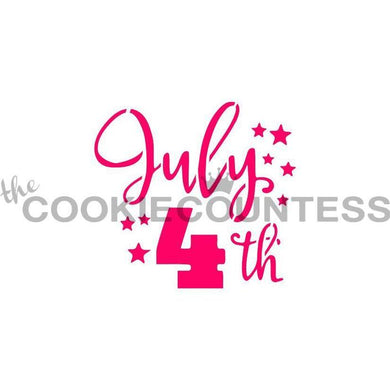 July 4th Stencil CC - Dots and Bows Designs