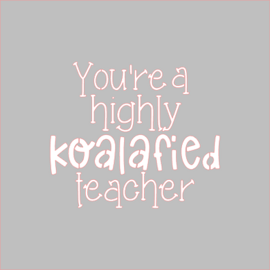 Koalafied Teacher Stencil - Dots and Bows Designs