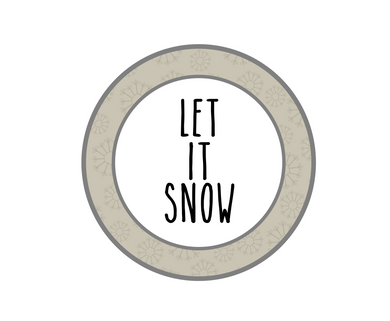 Let It Snow RDI Package Tags - Dots and Bows Designs
