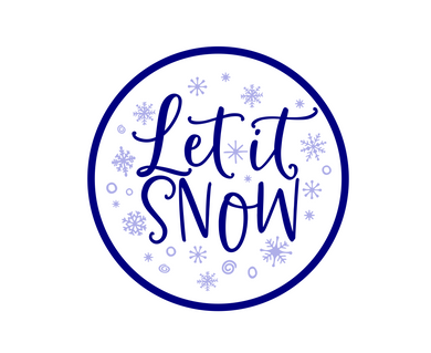 Let It Snow Package Tags - Dots and Bows Designs