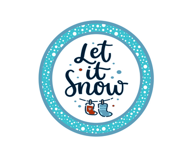 Let It Snow w Snow Package Tags - Dots and Bows Designs