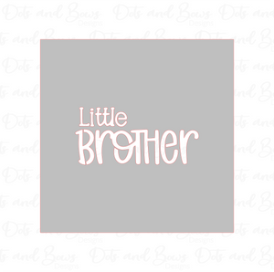 Little Brother Stencil Digital Download CC - Dots and Bows Designs
