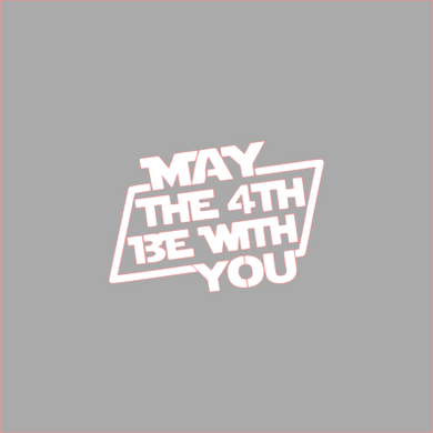 May the 4th Stencil Digital Download - Dots and Bows Designs