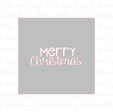 Merry Christmas Stencil - Dots and Bows Designs