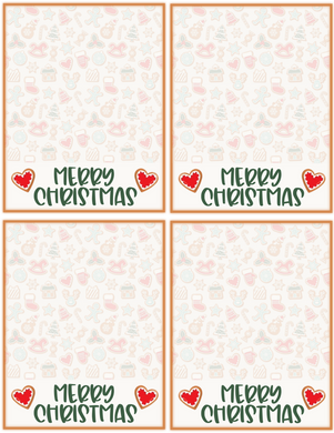 Merry Christmas Cookies Backer Card