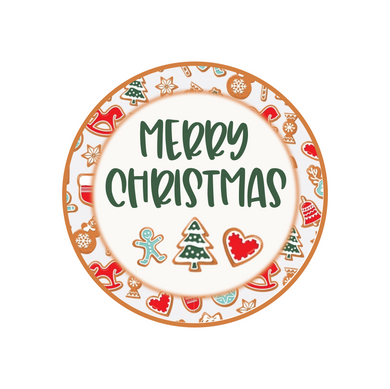 Merry Christmas Cookies Package Tags
