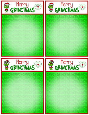 Merry Grinchmas Backer Card