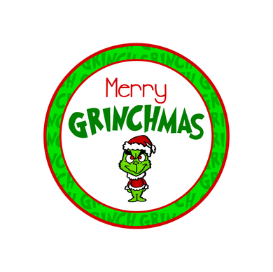 Merry Grinchmas Package Tags
