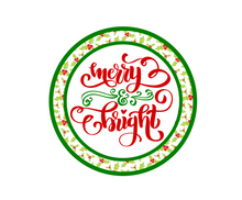 Load image into Gallery viewer, Merry and Bright Holly Package Tags - Dots and Bows Designs