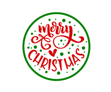 Load image into Gallery viewer, Merry Christmas Green Package Tags - Dots and Bows Designs