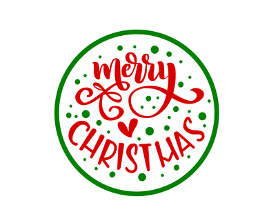 Merry Christmas Green Package Tags - Dots and Bows Designs