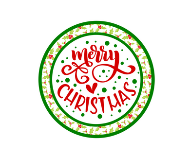 Merry Christmas Holly Package Tags - Dots and Bows Designs