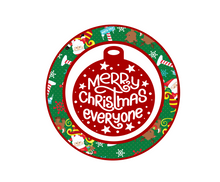 Load image into Gallery viewer, Merry Christmas Everyone Santa Package Tags - Dots and Bows Designs