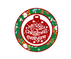 Merry Christmas Everyone Santa Package Tags - Dots and Bows Designs