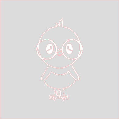 Nerdy Chick PYO Stencil Digital Download