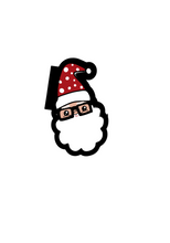 Load image into Gallery viewer, Nerdy Santa Cutter - Dots and Bows Designs