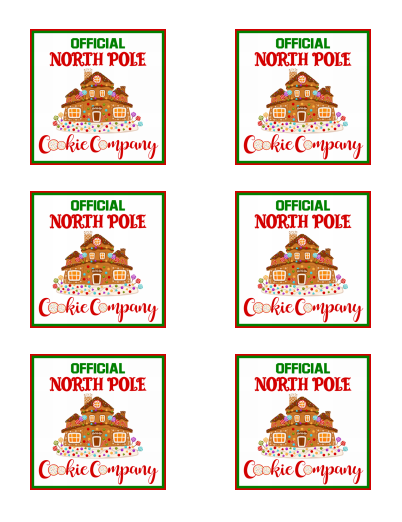 North Pole Cookie Co 3x3 Insert Card