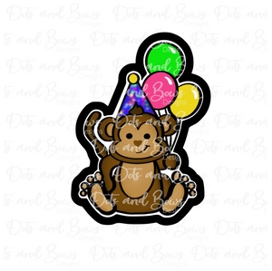 Party Monkey w Balloons STL Cutter File