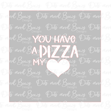 Pizza My Heart Stencil Digital Download