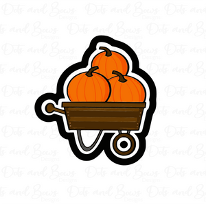 Pumpkin Wagon Cutter - Dots and Bows Designs