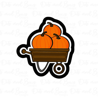 Pumpkin Wagon STL Cutter File - Dots and Bows Designs