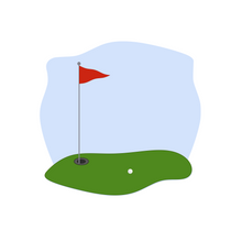 Load image into Gallery viewer, Golf Plaque - Dots and Bows Designs