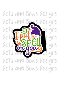 Put A Spell Cutter - Dots and Bows Designs