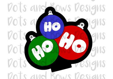 Ho Ho Ho Bulbs Cutter - Dots and Bows Designs