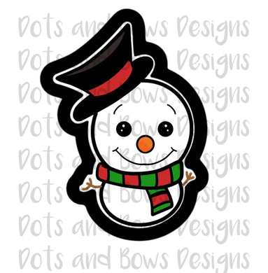 Chubby Snowman Cutter - Dots and Bows Designs