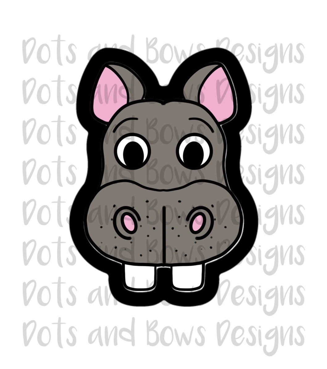 Hippo Cutter - Dots and Bows Designs