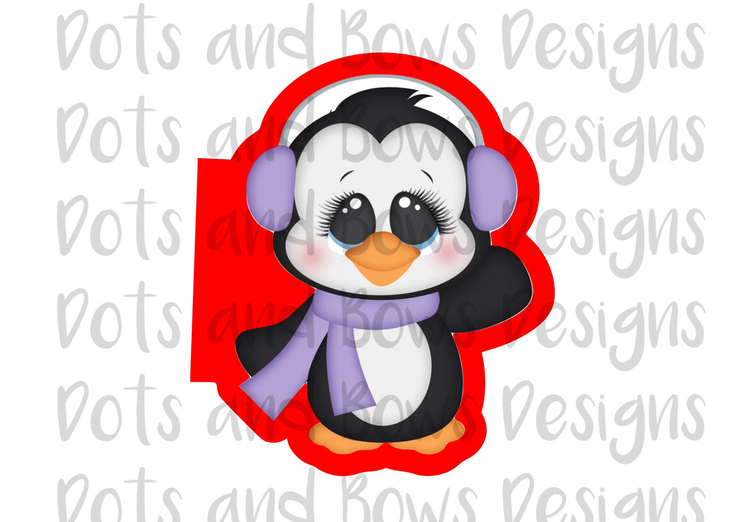 Winter Penguin Cutter - Dots and Bows Designs