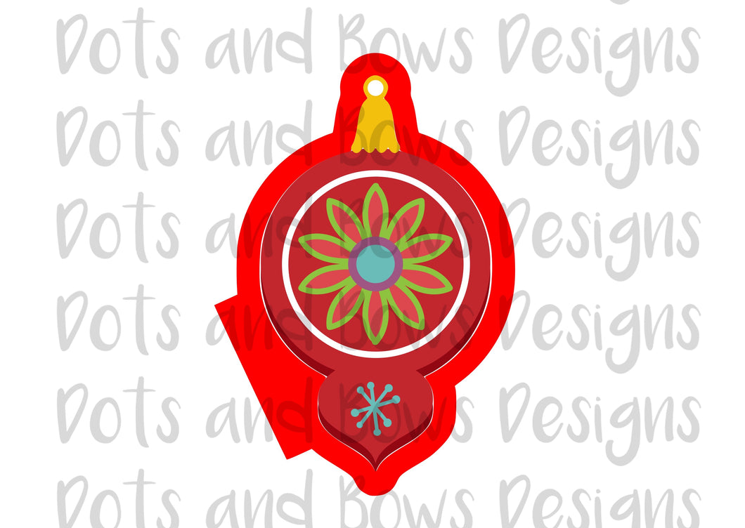 Christmas Ornament 3 Cutter - Dots and Bows Designs