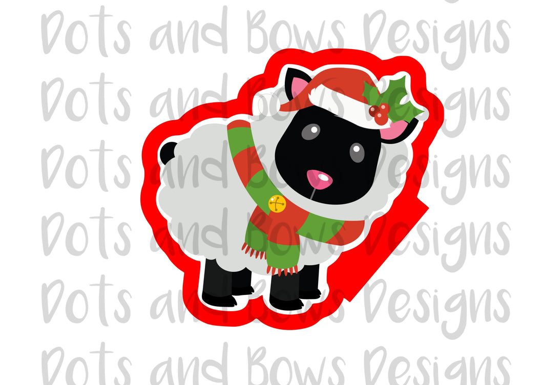 Christmas Sheep Cutter - Dots and Bows Designs