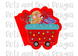 Christmas Express Car 1 Cutter - Dots and Bows Designs