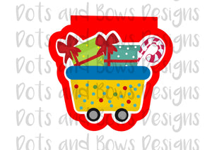 Christmas Express Car 2 Cutter - Dots and Bows Designs