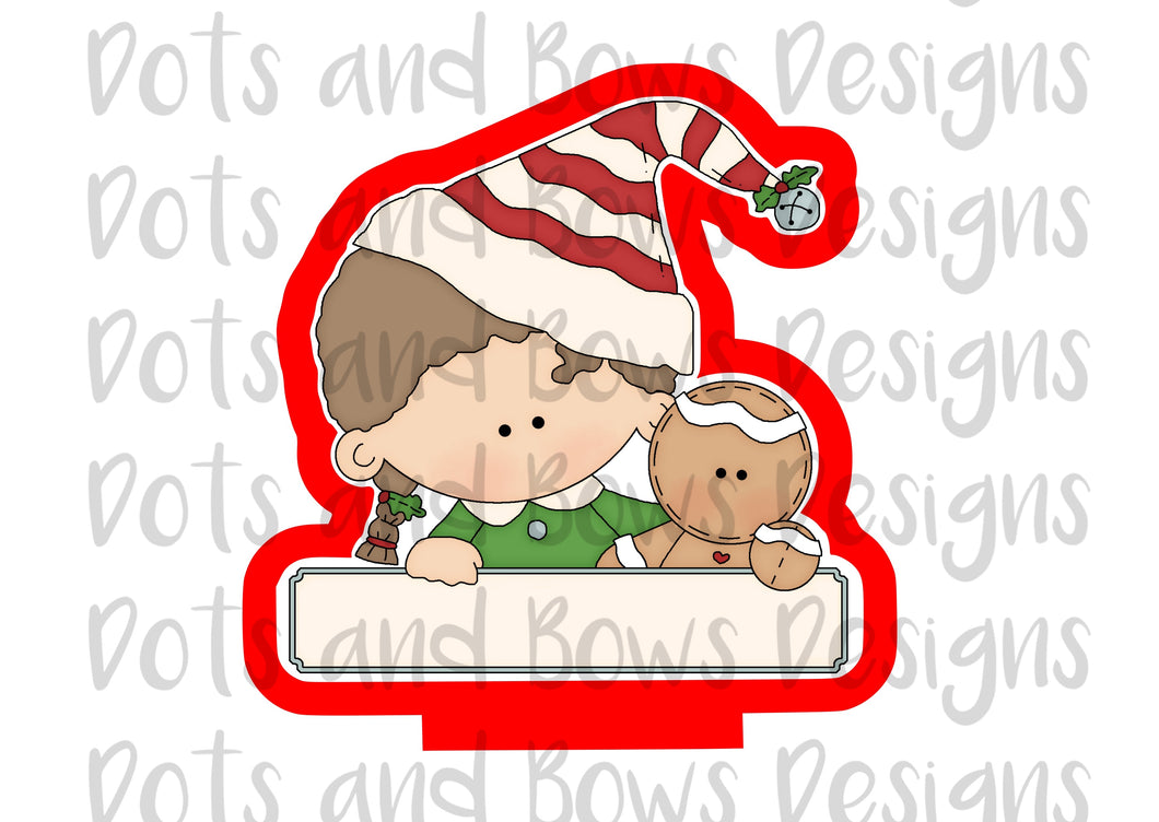 Christmas Pals Girl Cutter - Dots and Bows Designs