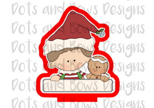 Christmas Pals Boy Cutter - Dots and Bows Designs