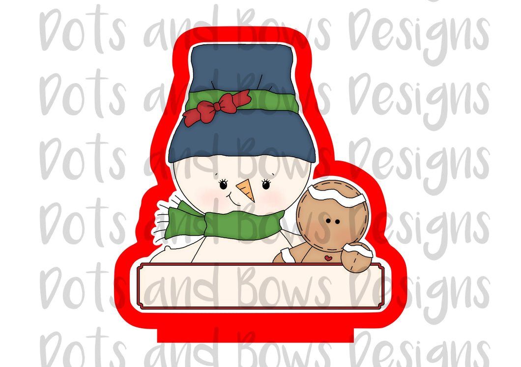Christmas Pals Snowman Cutter - Dots and Bows Designs