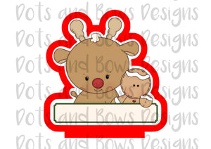Christmas Pals Rudolph Cutter - Dots and Bows Designs