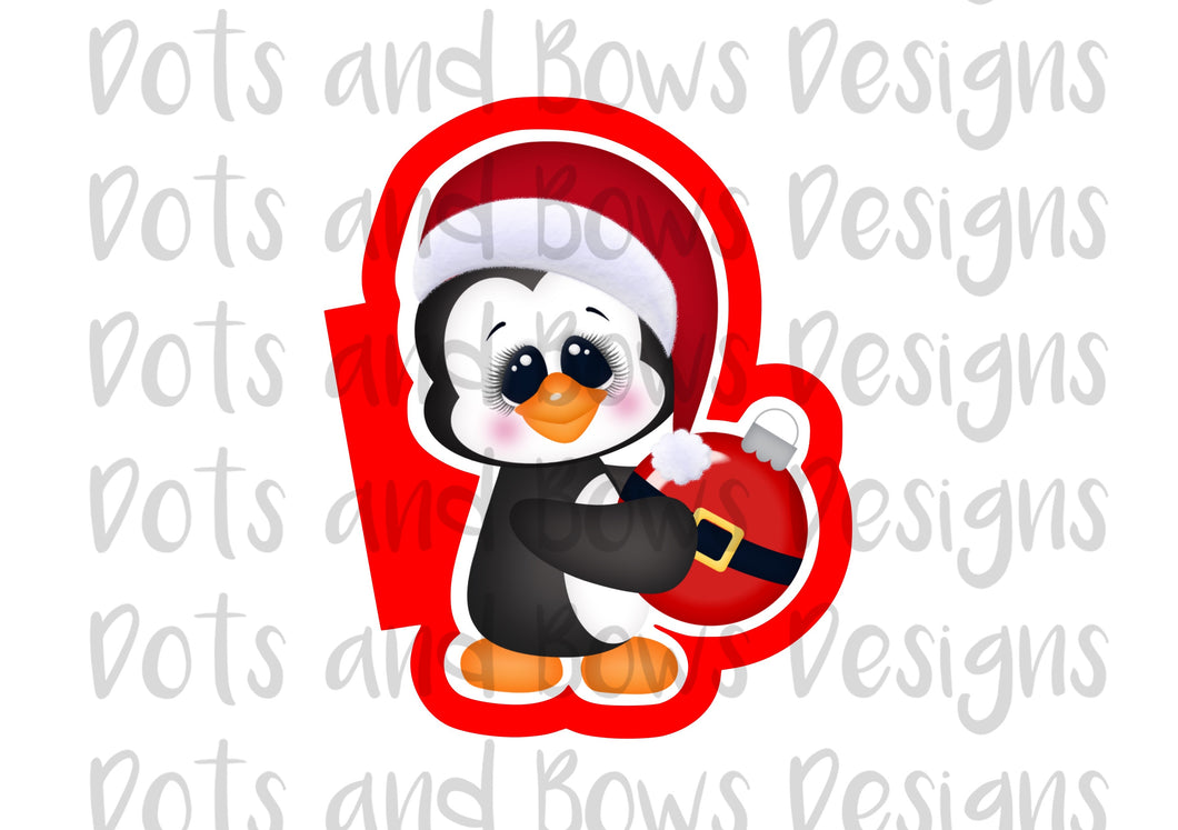 Penguin w/Bulb Cutter - Dots and Bows Designs