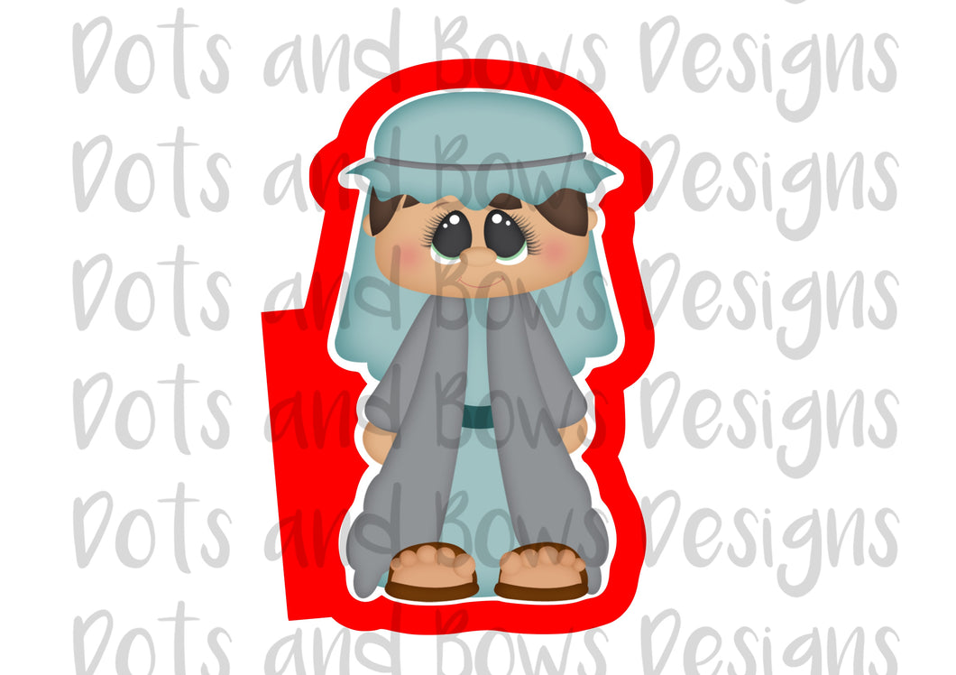 Nativity Joseph Cutter - Dots and Bows Designs
