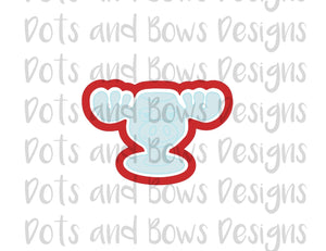 Moose Glass Cutter - Dots and Bows Designs