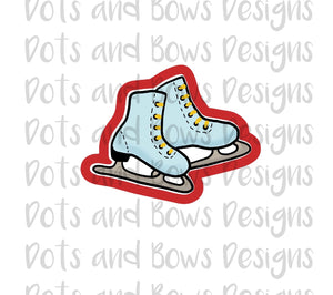 Ice Skates Cutter - Dots and Bows Designs