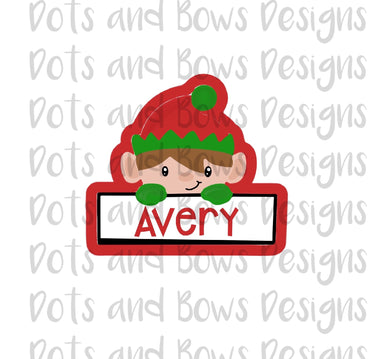 Elf Plaque Cutter - Dots and Bows Designs