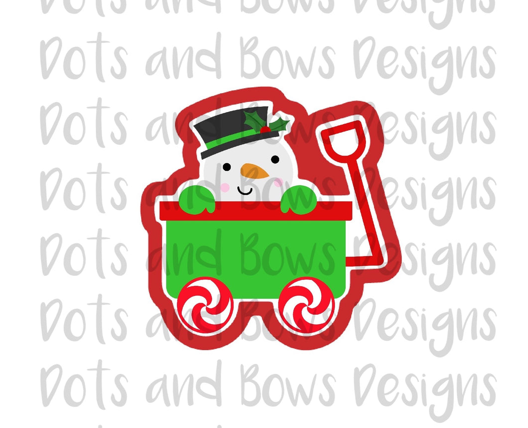 Snowman Peek Cutter - Dots and Bows Designs