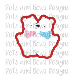 Kissing Polar Bears Cutter - Dots and Bows Designs